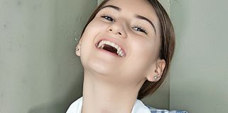 Lachend Mooi Wijfje Stock Fotografie