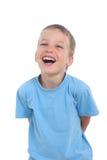 Lachend weinig jongen Stock Foto