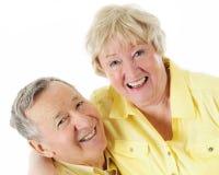 Lachende ältere Paare Stockbild