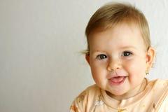 Lachende baby Royalty-vrije Stock Foto