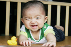 Lachende baby Stock Foto