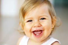 Lachende baby Royalty-vrije Stock Afbeeldingen