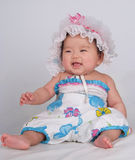 Lachende baby Royalty-vrije Stock Afbeelding