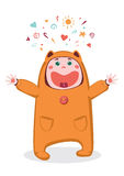 Lachende baby vector illustratie