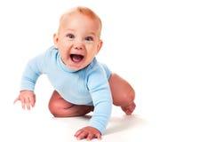 Lachende babyjongen Royalty-vrije Stock Foto