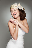 Lachende bruid Royalty-vrije Stock Afbeelding