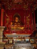 Lachende Buddha-Statue in China stockfoto