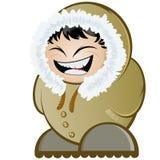 Lachende Eskimo Royalty-vrije Stock Afbeeldingen