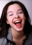 Lachende Frau Lizenzfreies Stockfoto