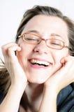 Lachende Frau Stockfoto