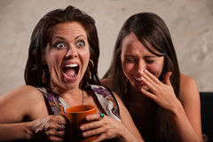 Lachende Freunde Stockfotografie