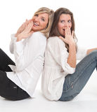 Lachende Freunde Lizenzfreie Stockbilder