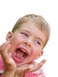 Lachende geïsoleerdei jongen stock fotografie