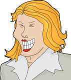 Lachende Geschäftsfrau vektor abbildung