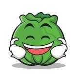 Lachende Gesichtskohl-Zeichentrickfilm-Figur-Art Stockfotos