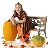 Lachende Halloween-Königin Stockbild