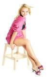Lachende jonge blonde vrouw Royalty-vrije Stock Afbeeldingen