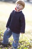 Lachende jonge jongen Stock Fotografie