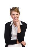 Lachende jonge vrouw. Stock Foto's