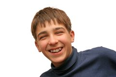 Lachende jongen Royalty-vrije Stock Fotografie
