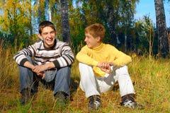 Lachende jongens Royalty-vrije Stock Afbeeldingen