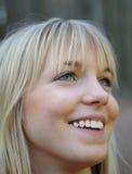 Lachende junge Frau Stockbild