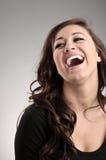 Lachende junge Schönheit Lizenzfreies Stockfoto