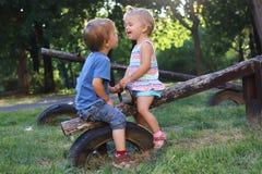 Lachende Kinderen Stock Fotografie