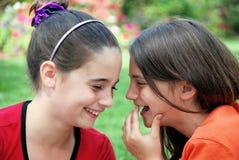 Lachende Mädchen Lizenzfreies Stockfoto