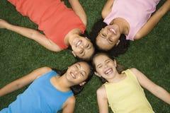Lachende meisjes. Stock Fotografie