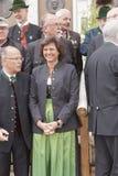 Lachende Minister Ilse Aigner van CSU royalty-vrije stock fotografie