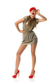 Lachende Mode-Frau Lizenzfreies Stockbild