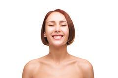 Lachende naakte vrouwen Stock Foto's