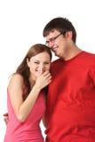 Lachende Paare Stockfotografie