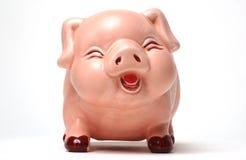 Lachende Piggy Querneigung Stockbilder