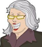 Lachende reife Geschäftsfrau vektor abbildung