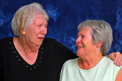 Lachende Schwestern Stockfotos