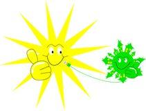Lachende Sonne und laughung Erde Lizenzfreie Stockfotos