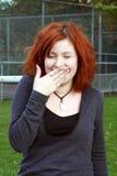 Lachende Tiener Stock Foto's