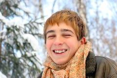 Lachende tiener Stock Afbeeldingen