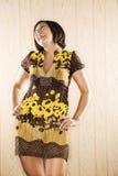 Lachende vrouw. Royalty-vrije Stock Afbeelding