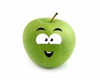 Lachender Apfel stockbilder