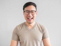 Lachender asiatischer Mann Stockfotos