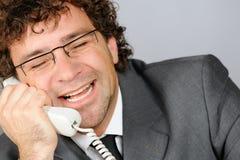 Lachender Geschäftsmann Stockbild