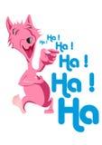 Lachender Hund Lizenzfreies Stockbild