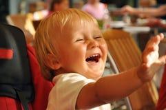 Lachender Junge Stockfoto