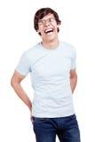Lachender Kerl Stockfoto