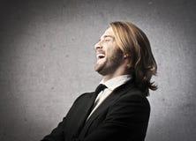 Lachender Mann Stockfoto