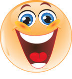 Lachender smiley. Lizenzfreies Stockbild