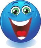 Lachender smiley. Stockbild